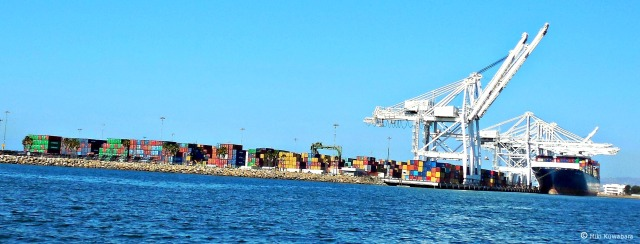Containers at Port of Long Beach